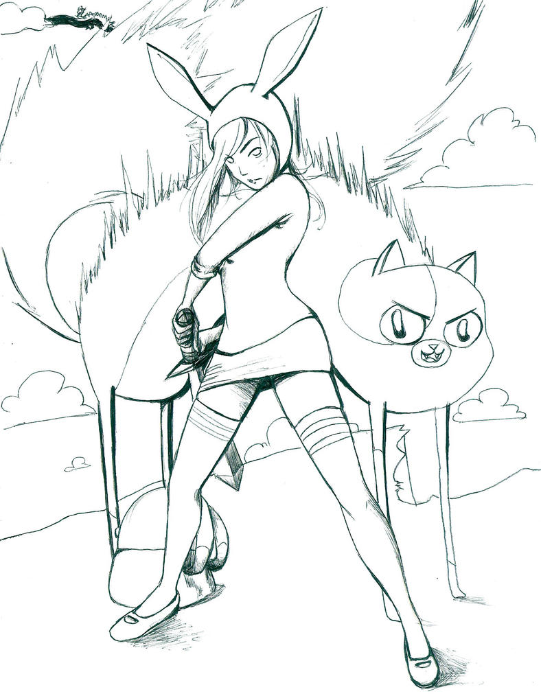 Pin Fiona And Cake Adventuretime Cosplay Cake on PinterestAdventure Time Coloring Pages Fionna And Cake