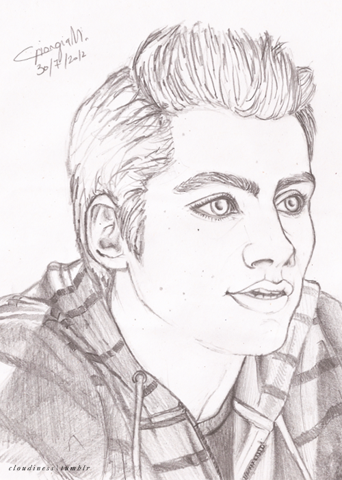 Sketch of Dylan O'Brien(Stiles) by inacloudyday