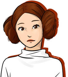 Carrie Fisher as Princess Leia tribute by RinSarahMoin29