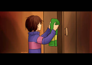 Discovering Chara's Shirt by RinSarahMoin29