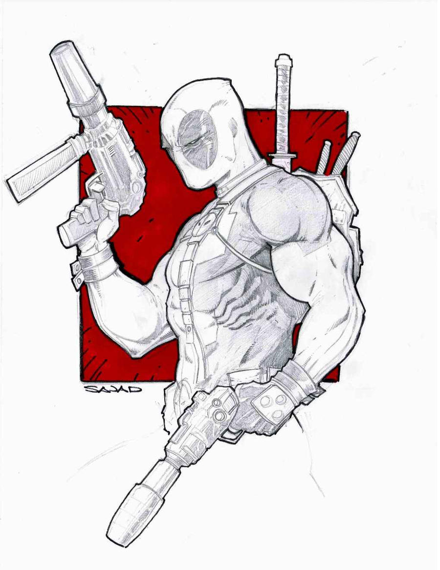 DeadPool Commission by Sajad126