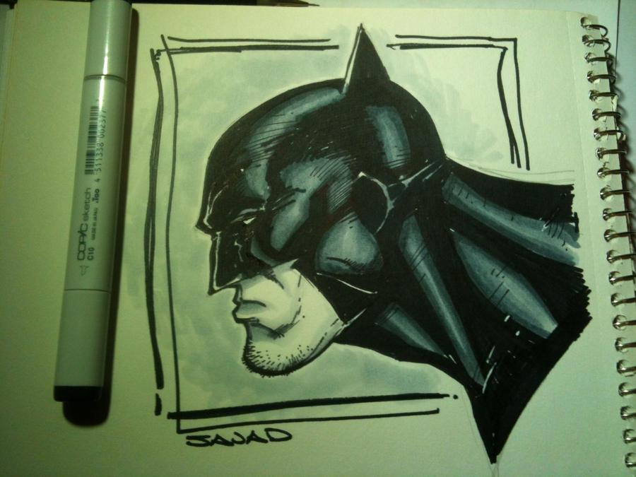 Batman with COPIC by Sajad126