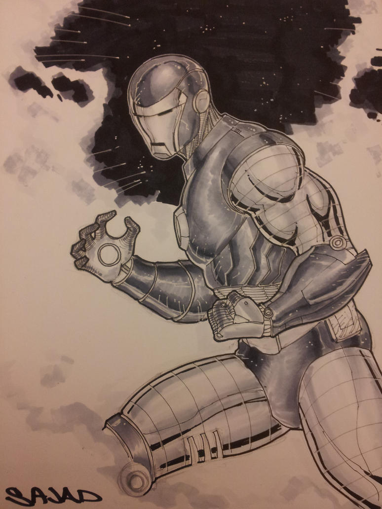 IronMan sketch using COPIC by Sajad126
