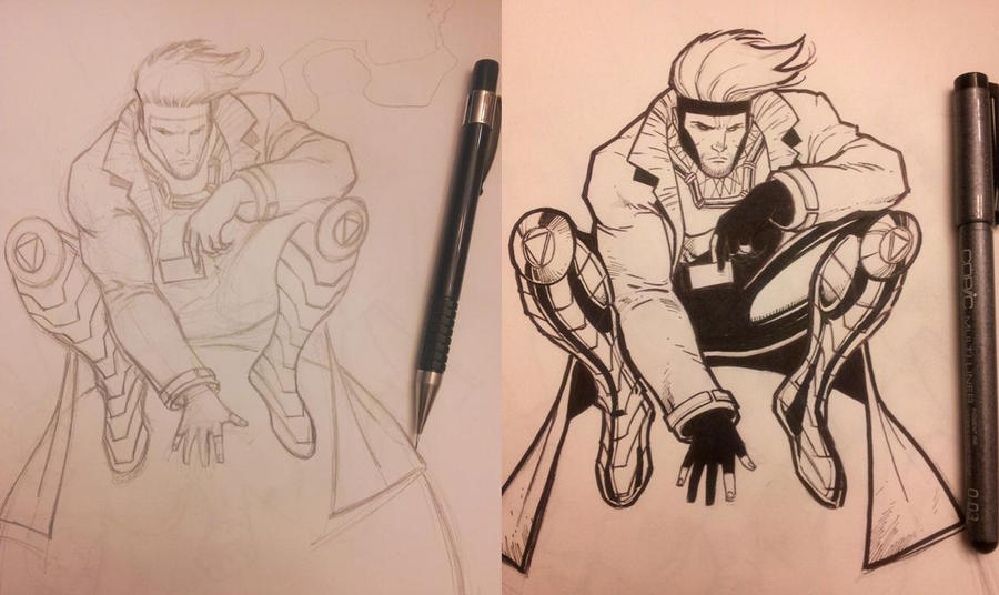 Rough pencils to inks by Sajad126