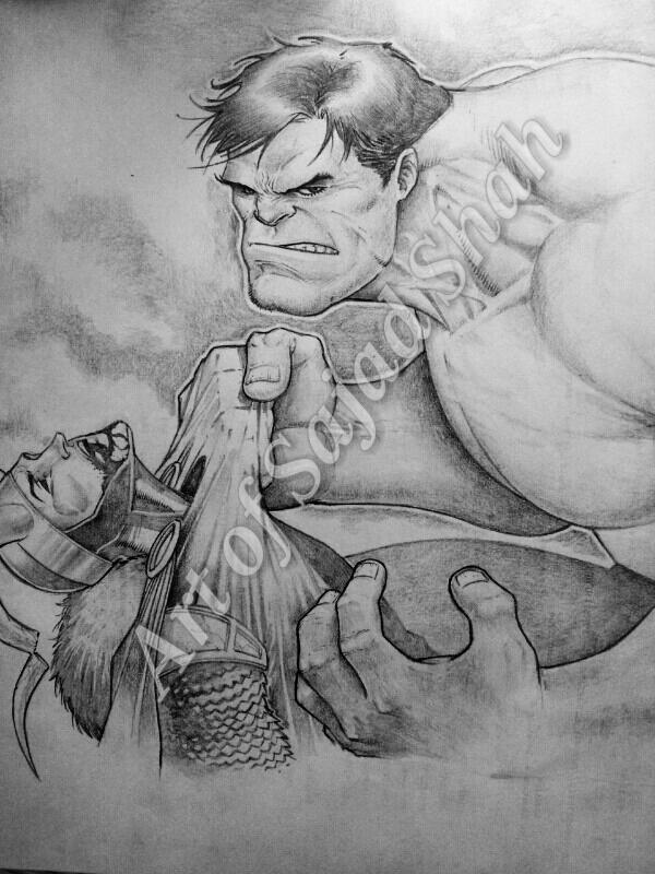 puny god: Avengers hulk loki by Sajad126