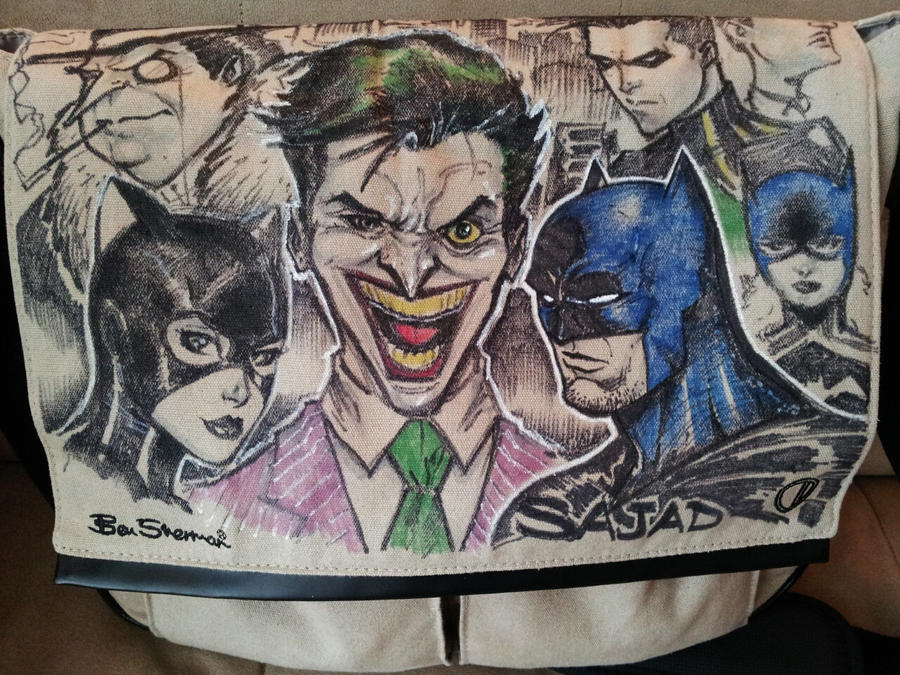 my  BatMan Art bag for cons by Sajad126