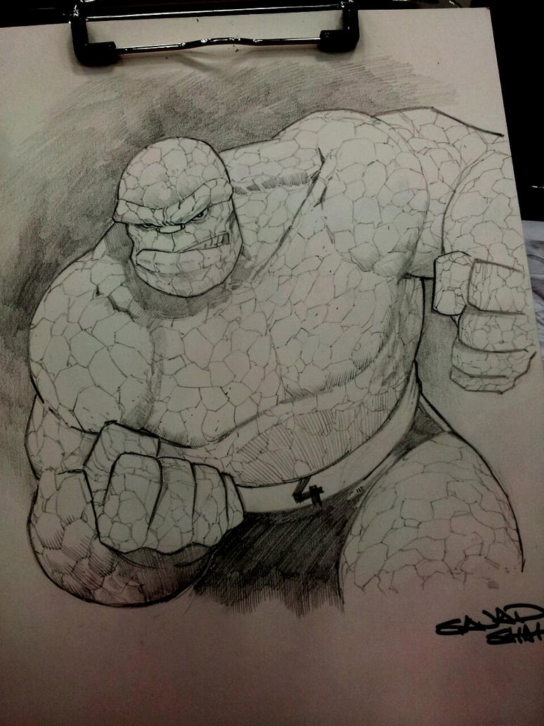 Ben Grimm aka the Thing /fantastic 4 commission by Sajad126