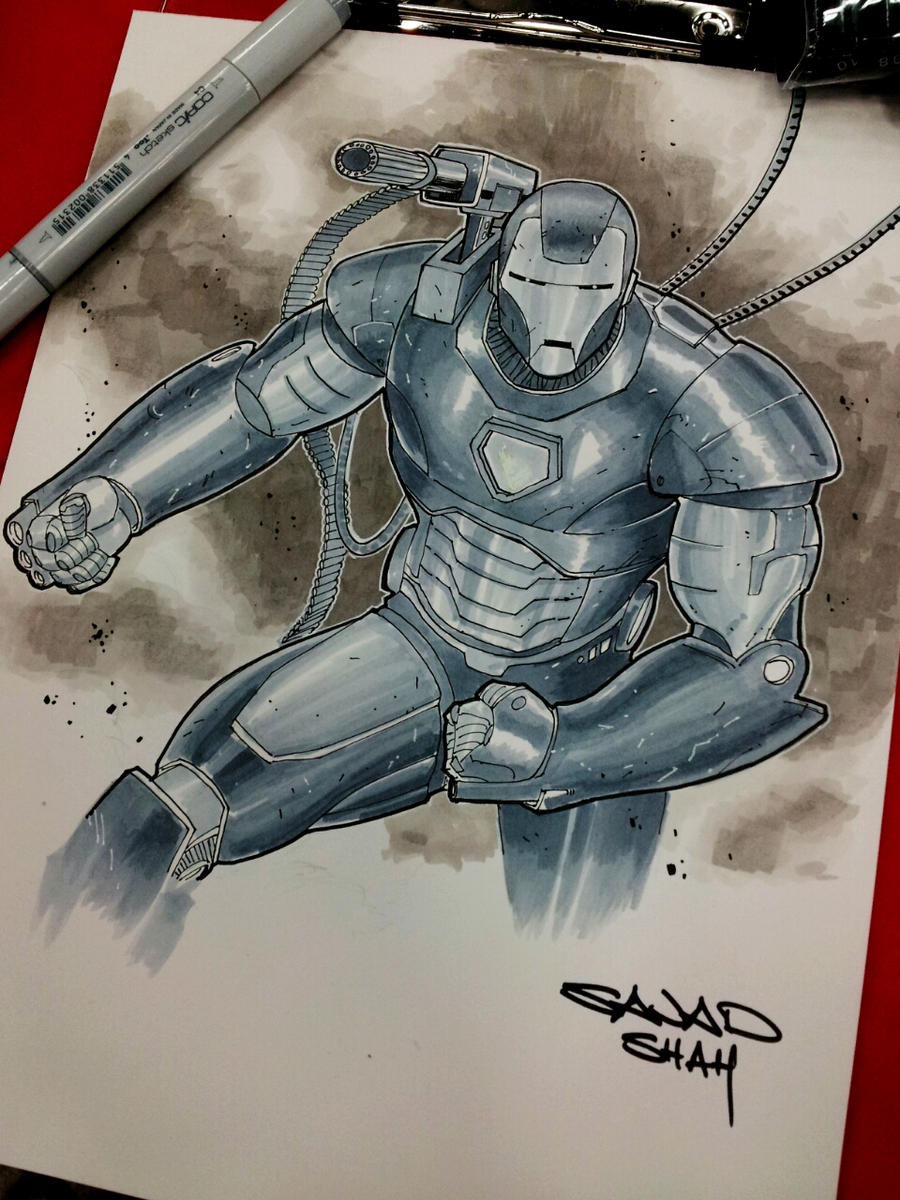 ironman war machine w/copics austin comicon by Sajad126