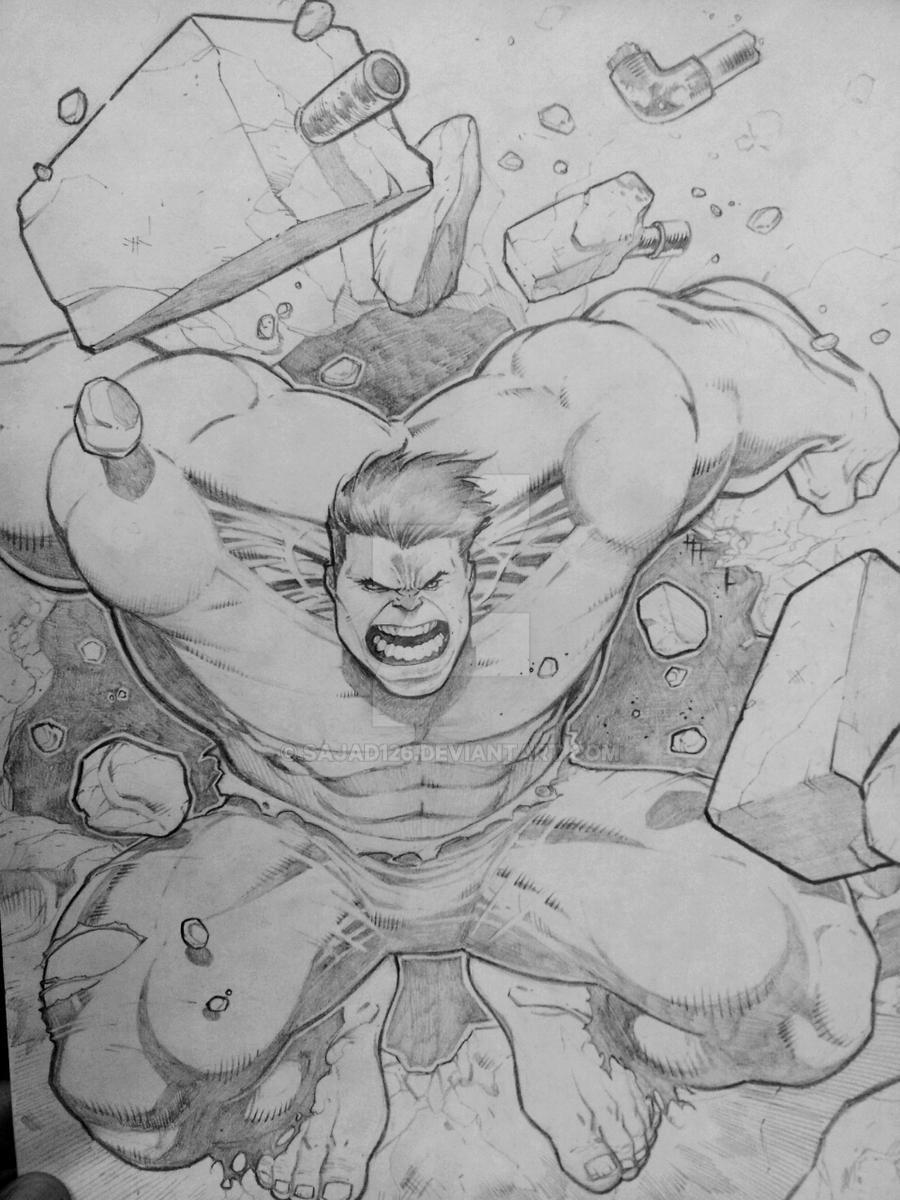 incredible HULK by Sajad126