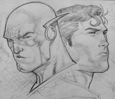 flas superman head sketch by Sajad126