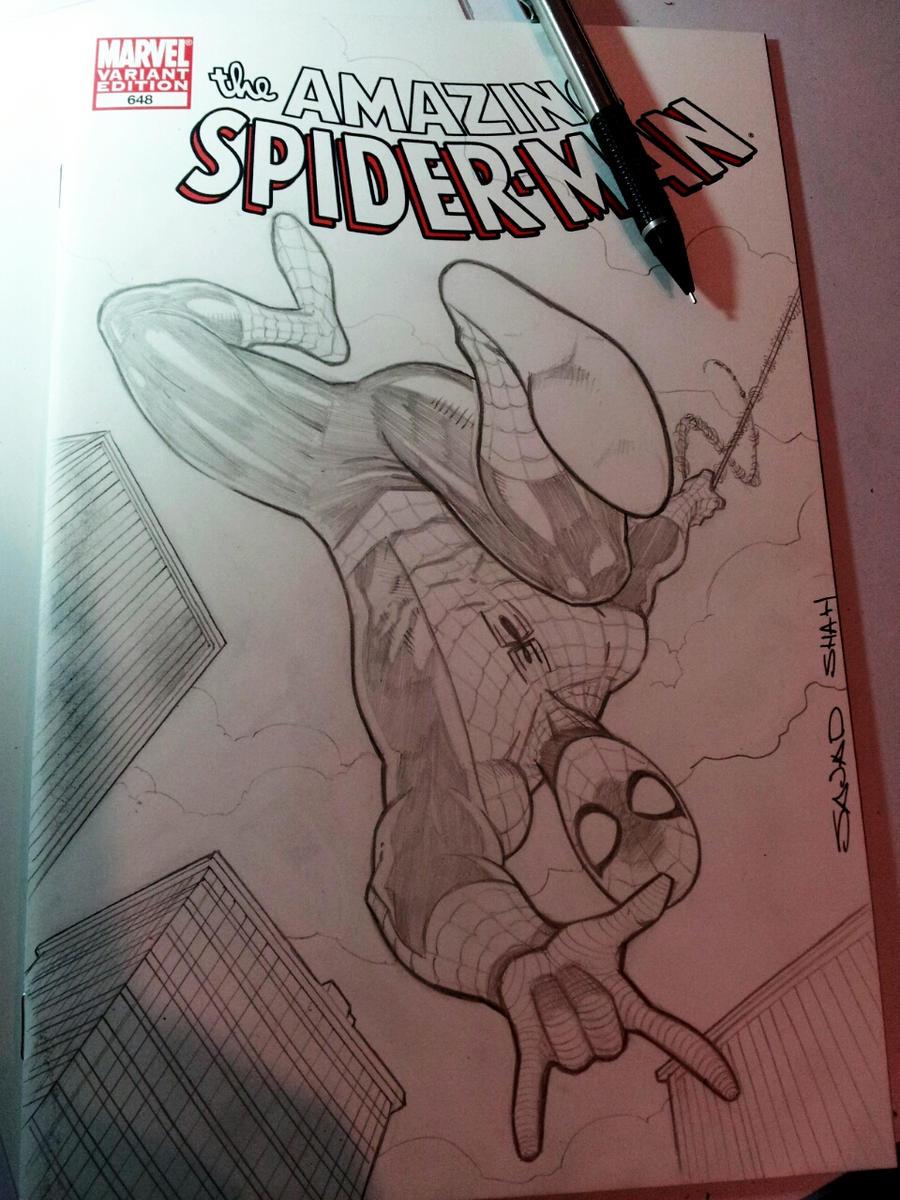 spiderman sketchcover by Sajad126