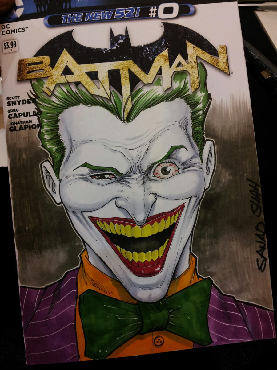 joker sketch cover by Sajad126