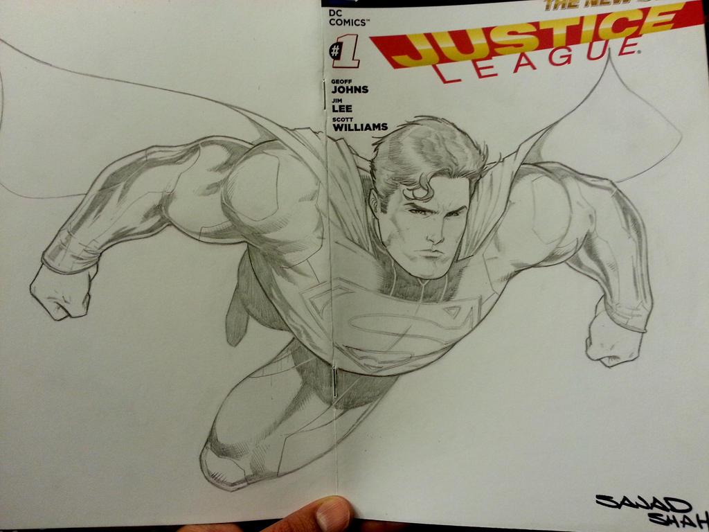 justice league sketchcover superman by Sajad126