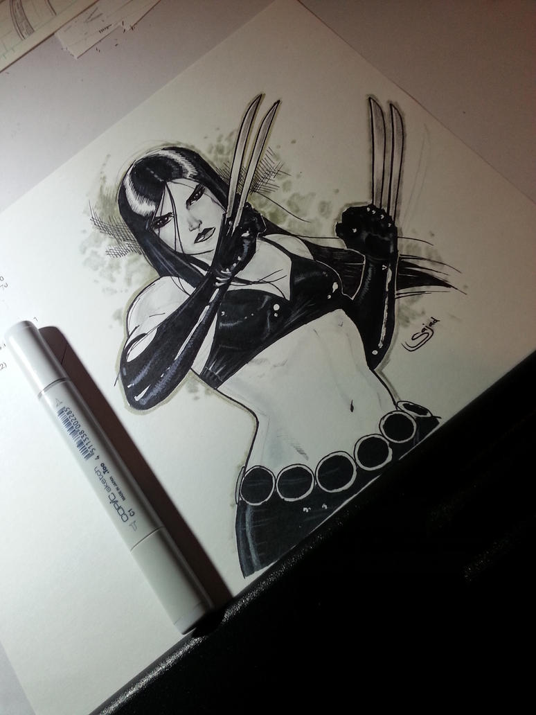 x23 on drawing table by Sajad126