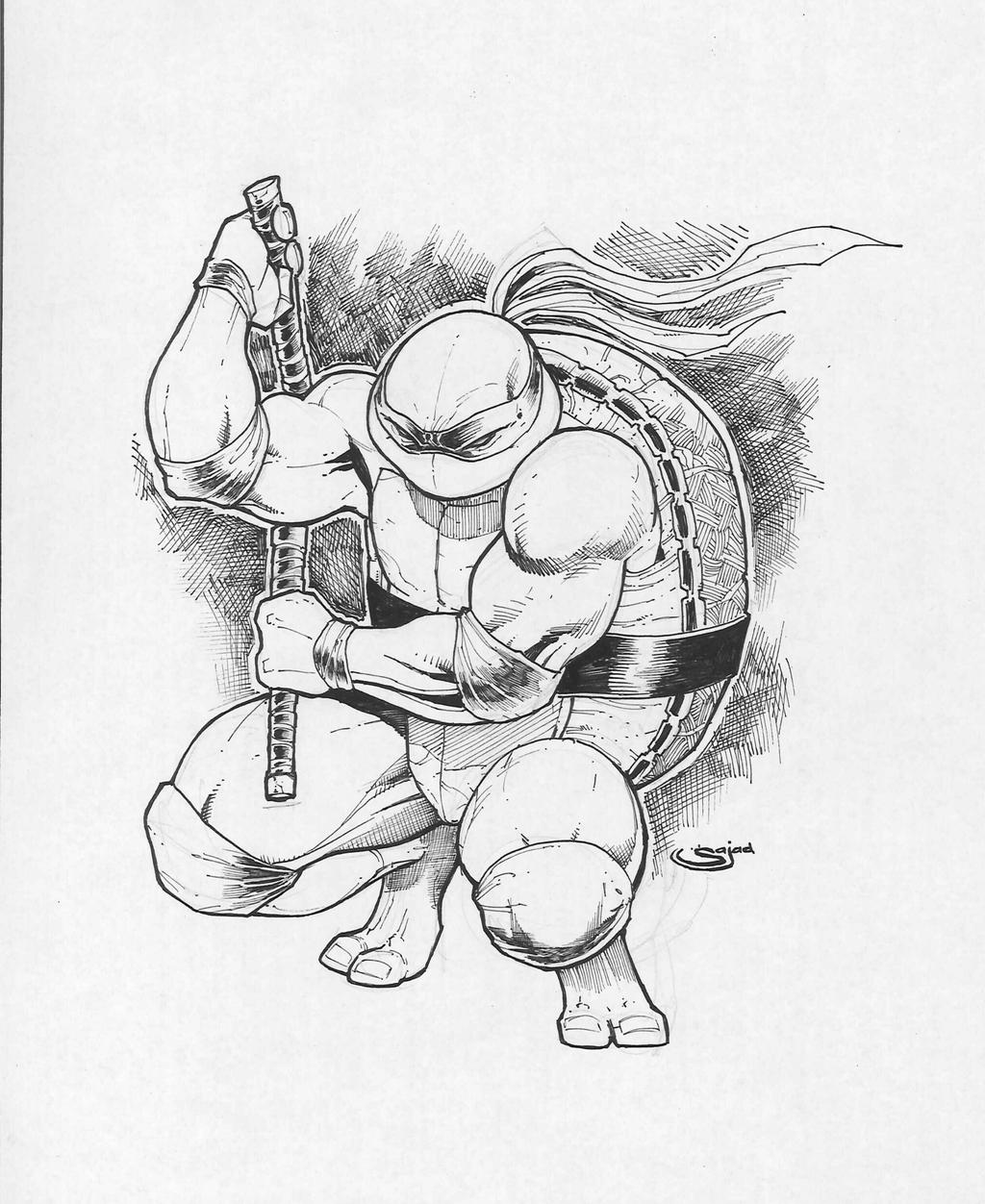 tmnt inks free to color by Sajad126