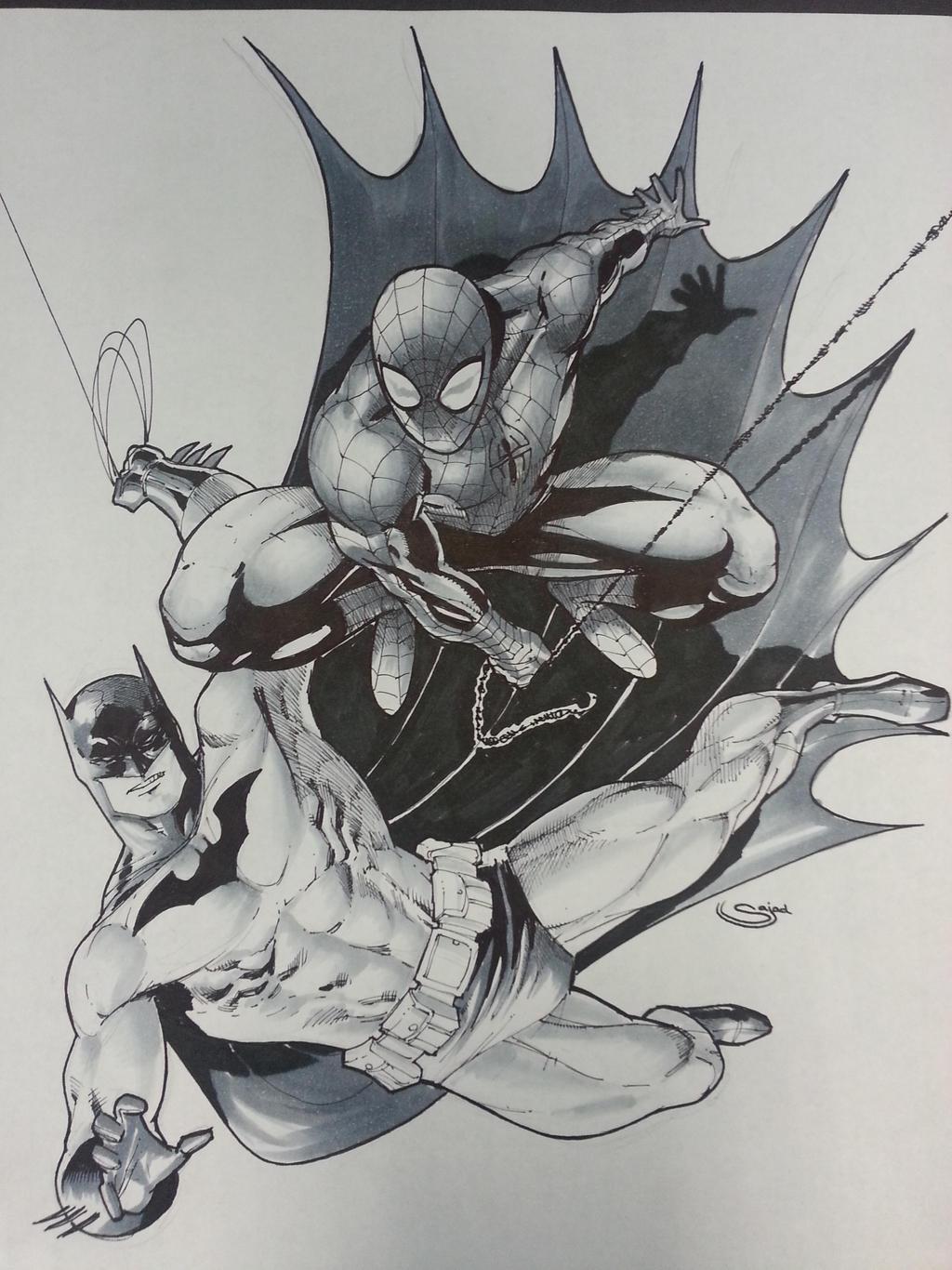 spiderman and batman WTF !? by Sajad126