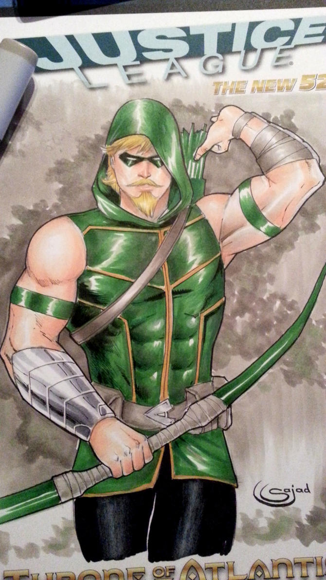green arrow sketch cover commission by Sajad126