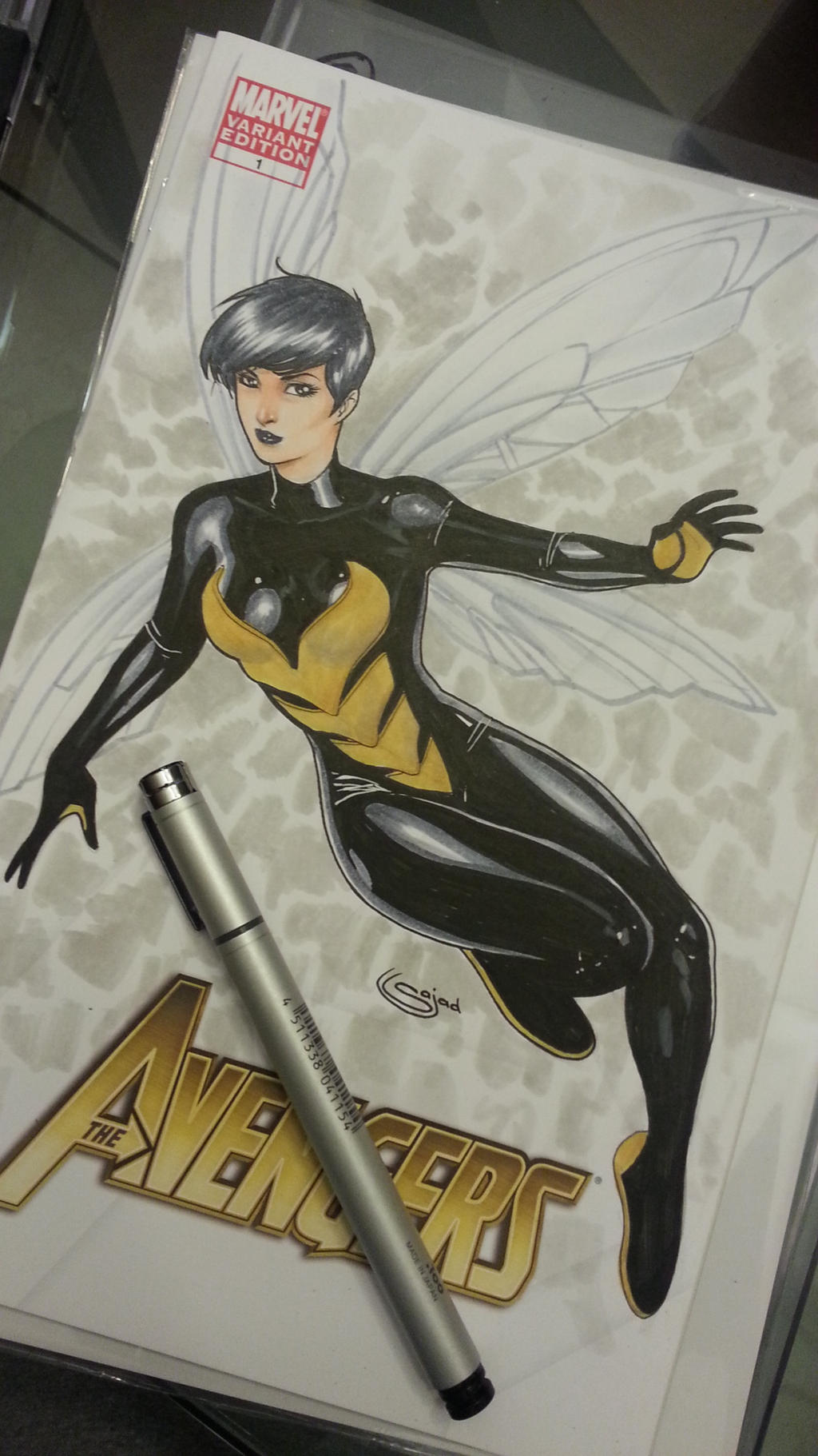 wasp sketchcover commission by Sajad126