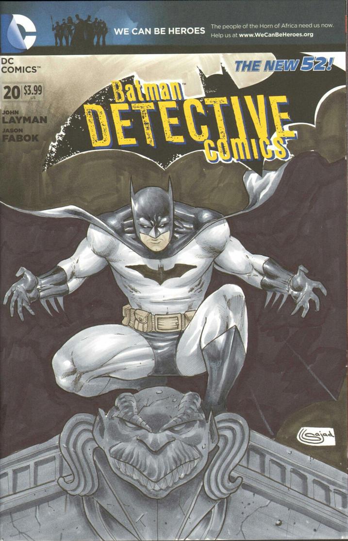 Batman Sketchover Copics by Sajad126