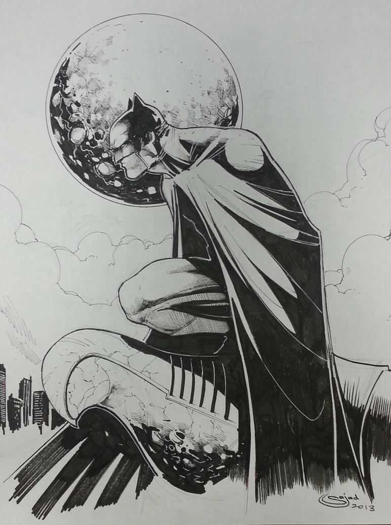 batman inks by Sajad126