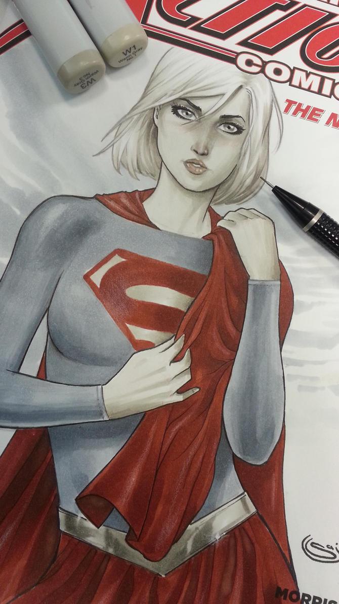 supergirl sketchcover by Sajad126