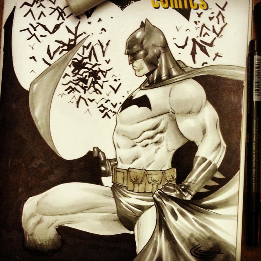 batman sketchcover copics by Sajad126