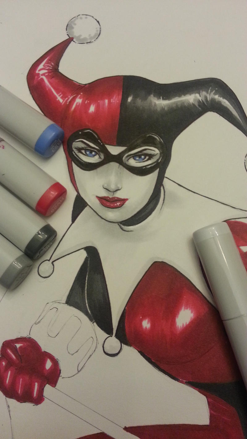 harley quinn commission wip by Sajad126