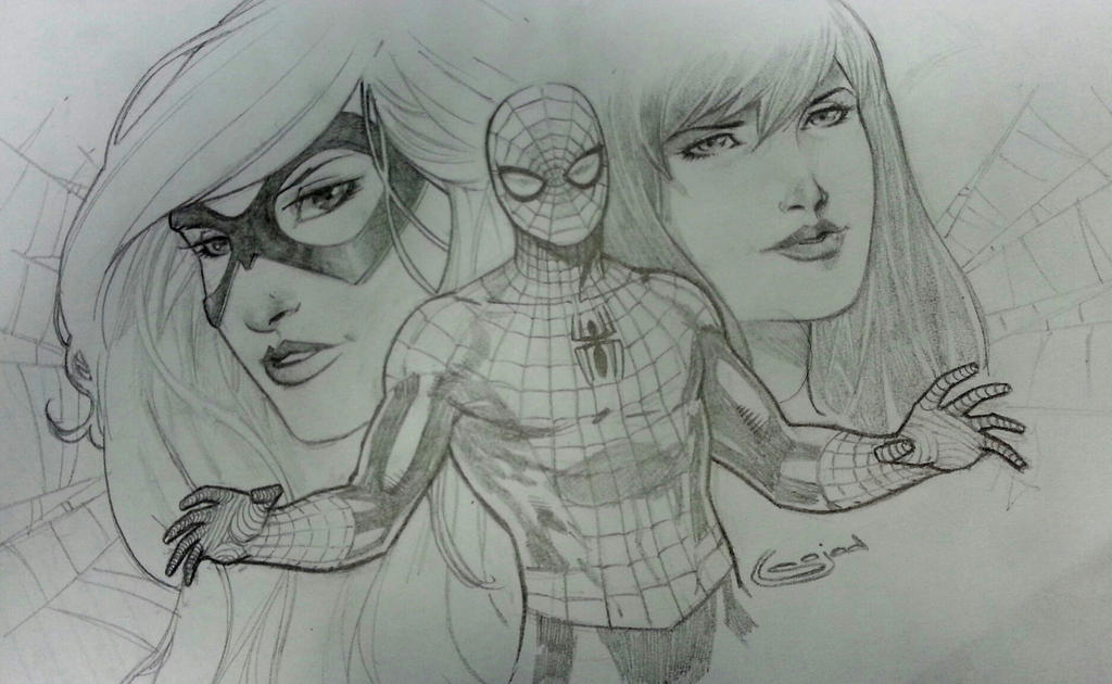 spiderman mary jane and black cat by Sajad126 on DeviantArt
