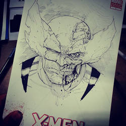 Zombie Wolverine SketchCover by Sajad126