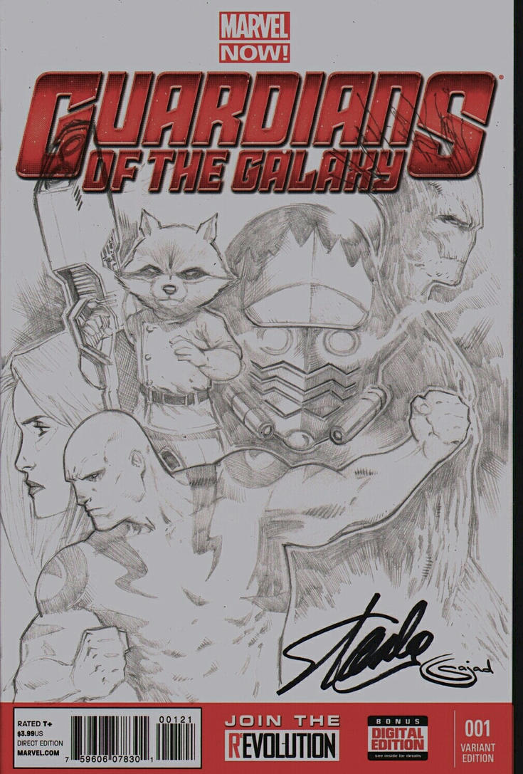 stan lee signed guardians of the galaxy blank by Sajad126