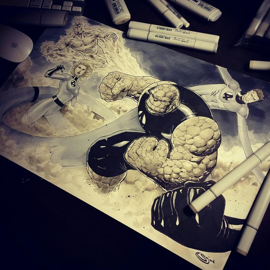 Fantastic 4 for C2E2  by Sajad126