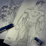 Superman sketchs for C2E2