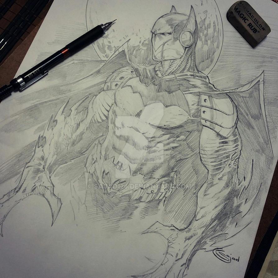 batman creature cyborg thingy by Sajad126