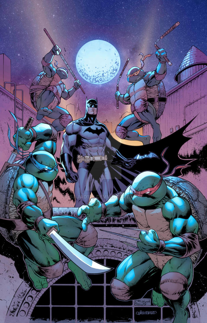 Batman TMNT crossover Variant by Sajad126