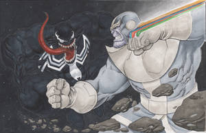 commission Thanos vs Venom by Sajad126