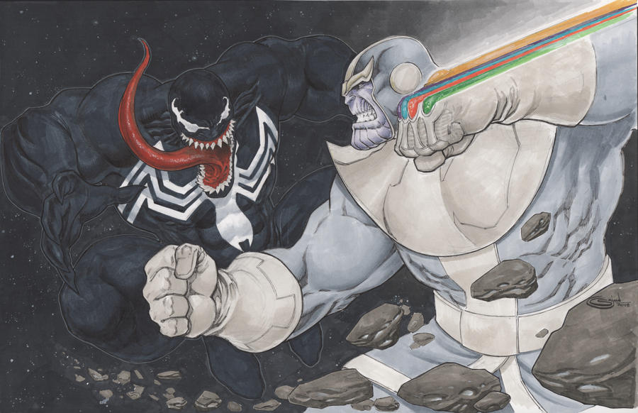 commission Thanos vs Venom by Sajad126