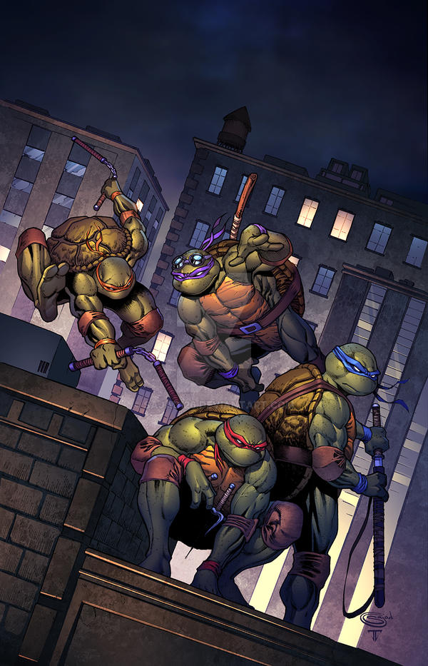 TMNT Urban Legends #1 Variant Cover by Sajad126