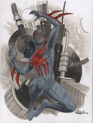 Female spidey 2099 commission