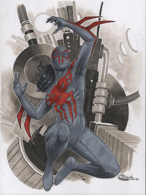 Female spidey 2099 commission by Sajad126