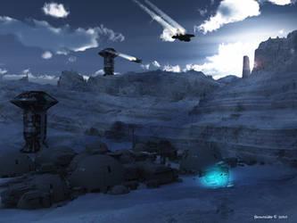 Frozen dawn by faroutsider