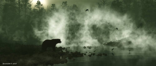 Rising mist by faroutsider