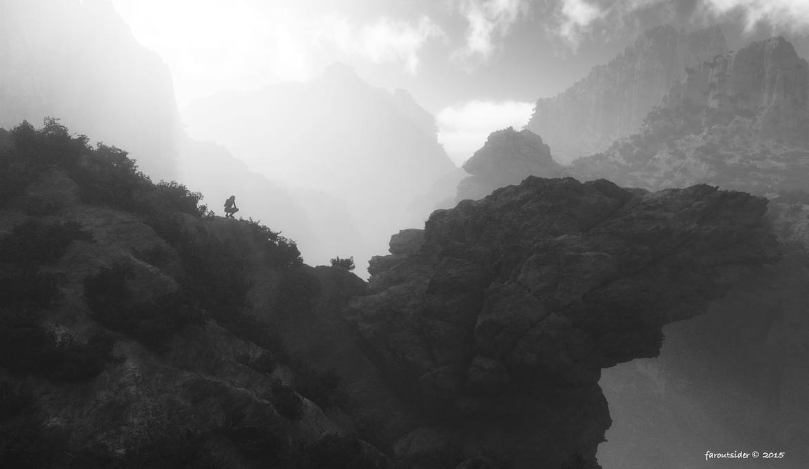 Bridge to the vast unknown (BW version) by faroutsider