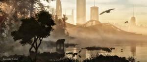 #BrightArtDarkTimes: Morning mist