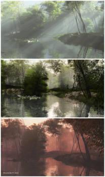 Triptych: Shady Brook