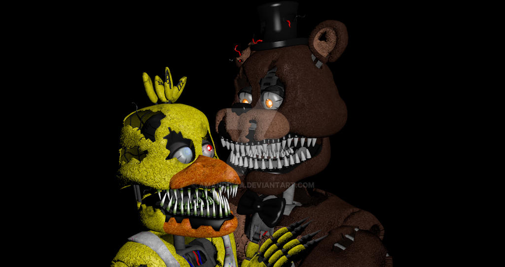 five nights at freddy&#39-s chica and toy chica by MyRandomDraws on ...