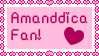Amanddica fan Stamp by Amanddica