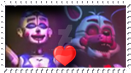 Funtime Foxy x Ballora Stamp by Amanddica