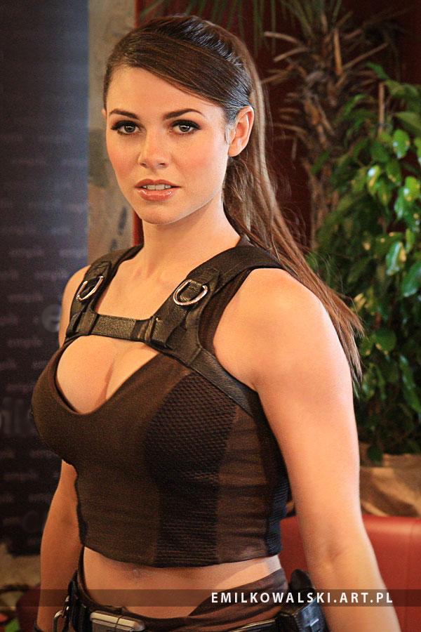 Alison Carroll as Lara Croft from Tomb Raider I by KowalskiEmil