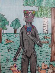 (a DTA entry) Xylon, the Forest Enderman by Sakura-of-Zendikar