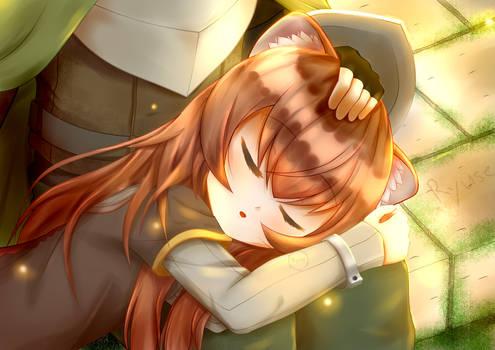 Raphtalia sleeping